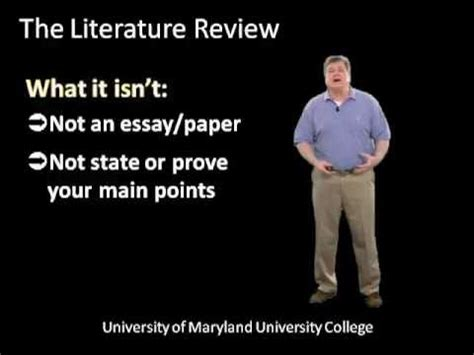 Literature Review Template - Thompson Rivers University